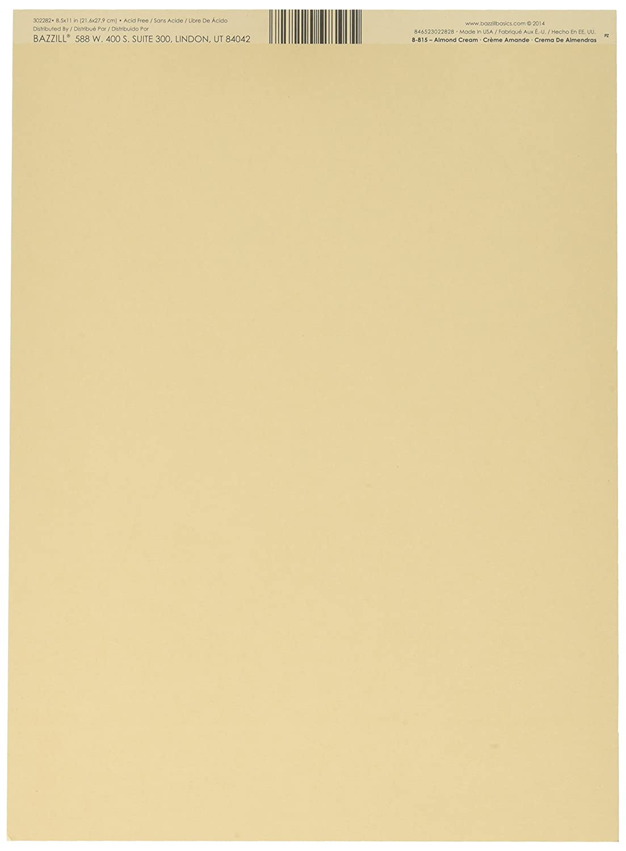Cream colored cardstock paper studio - Amazon Com Bazzill Cardstock 8 5 X11 Almond Cream Smoothies 25 Per Pack Arts Crafts Sewing