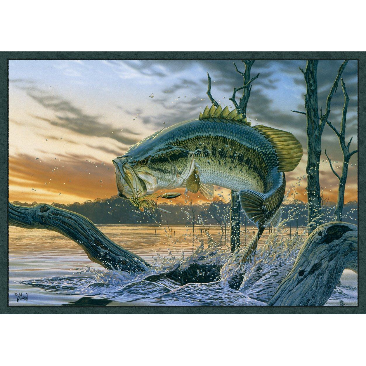 Bass Wildlife Rug from Amazon!