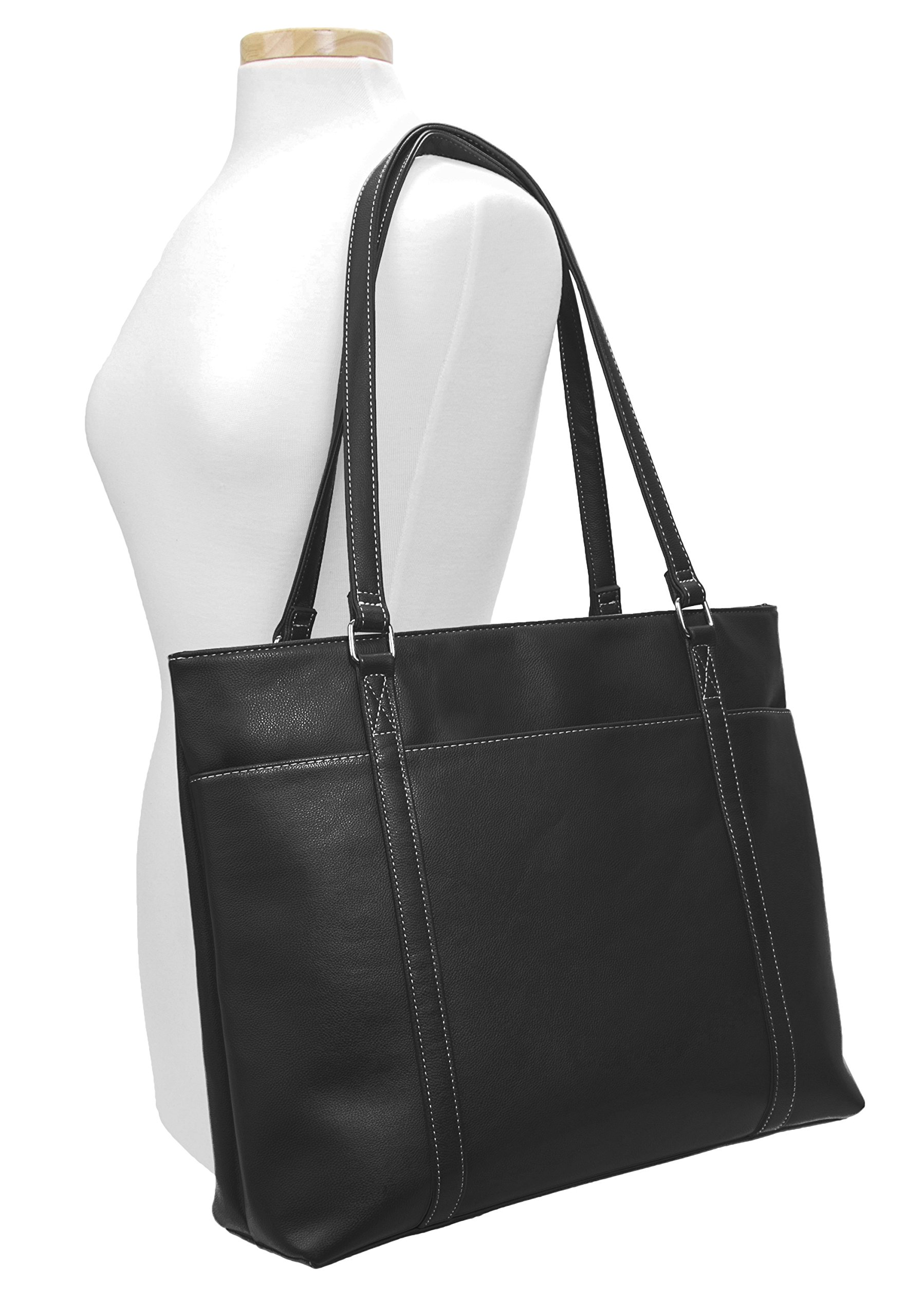 Overbrooke Classic Womens Tote Bag for Laptops  up to 15.6 Inches, Black by Overbrooke (Image #6)
