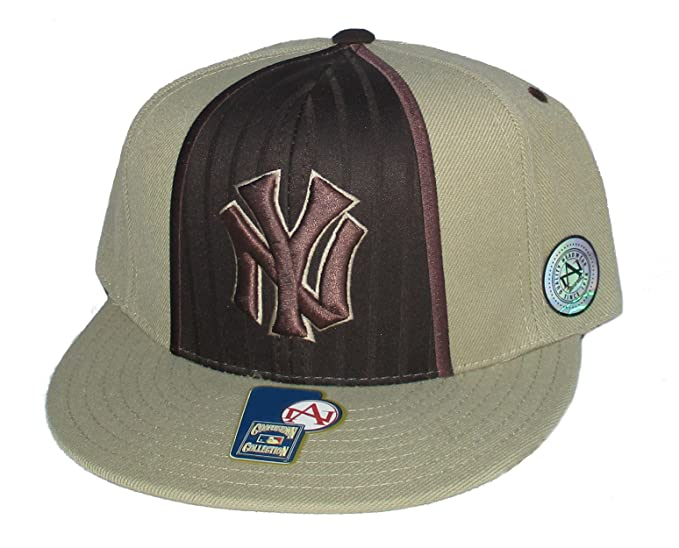 Amazon.com   New York Yankees Fitted Size 7 3 4 Hat Cap - Chocolate Brown    Tan   Sports   Outdoors 0f5ef6403