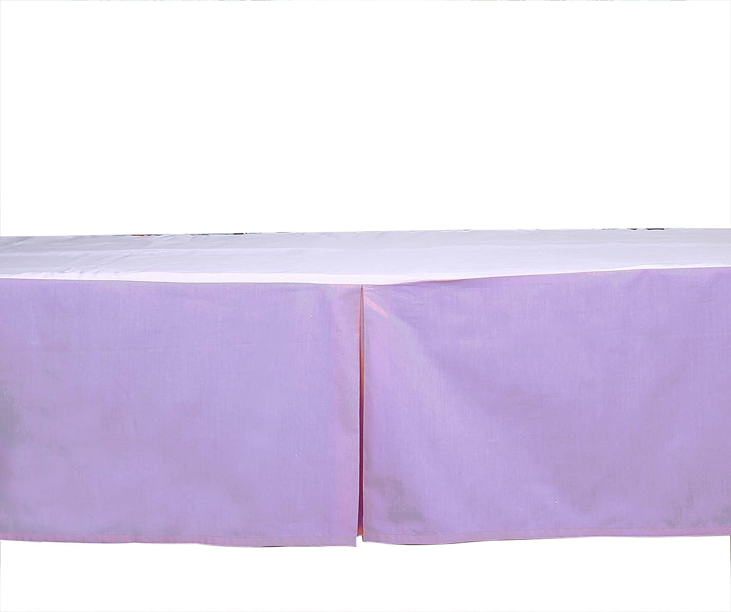 Bacati Solid Crib//Toddler Bed Skirt MMLISOCSK Lilac 13 13 Inc