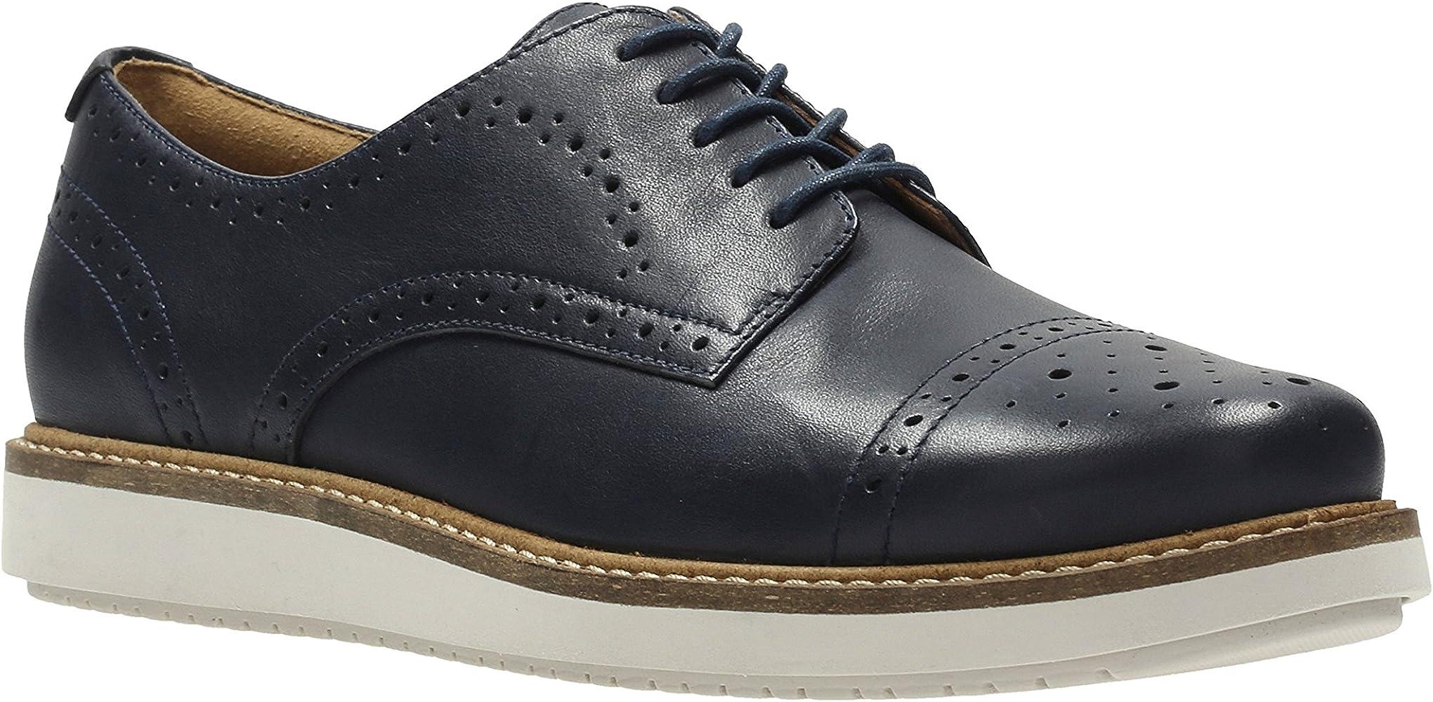 ClarksGlick Shine - zapatos oxford Mujer , color azul, talla 44 ...
