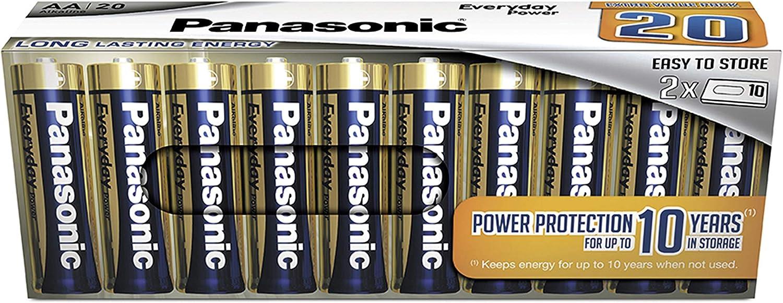 Panasonic Everyday Power Alkaline Batterie Aa Mignon Lr6 20er Pack In Plastikfreier Verpackung 1 5v Für