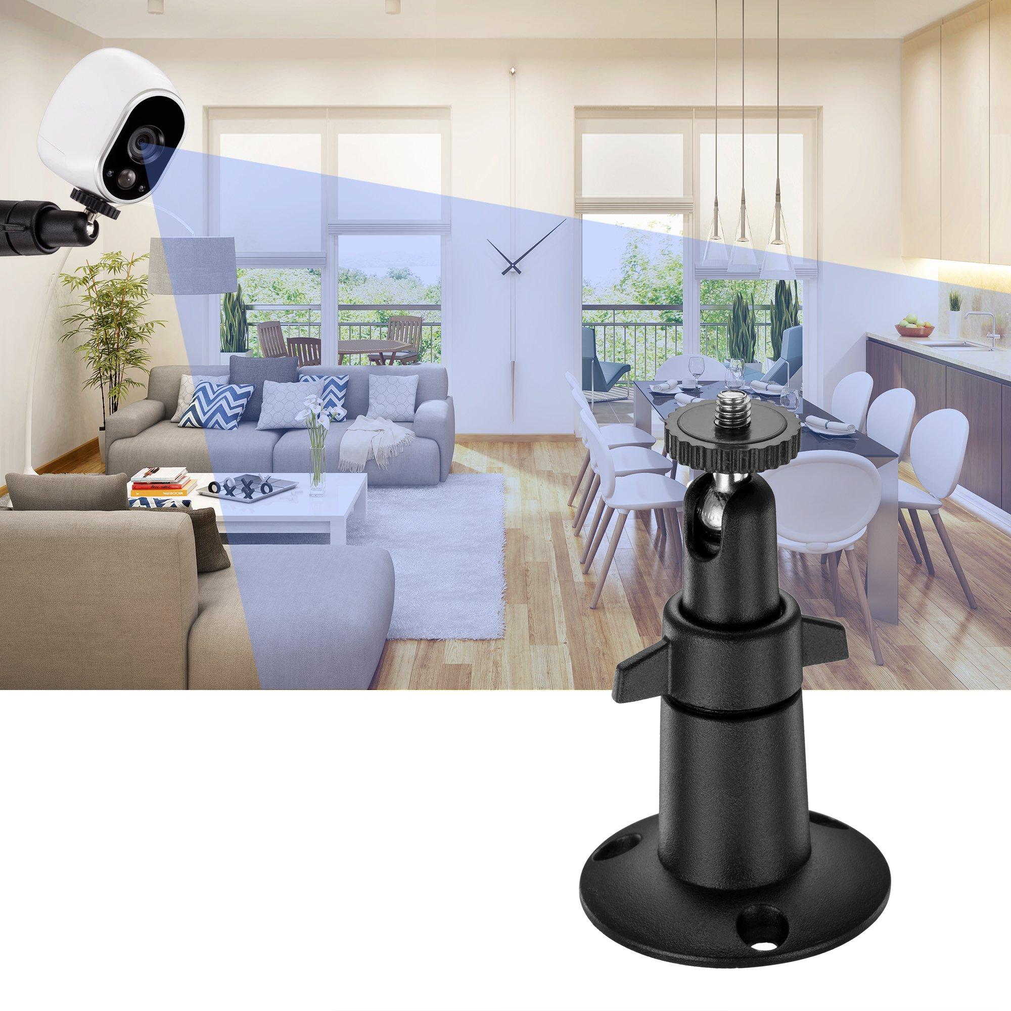 Arlo Camera Mounts (3 pcs Metal-Body/Shaft Black)