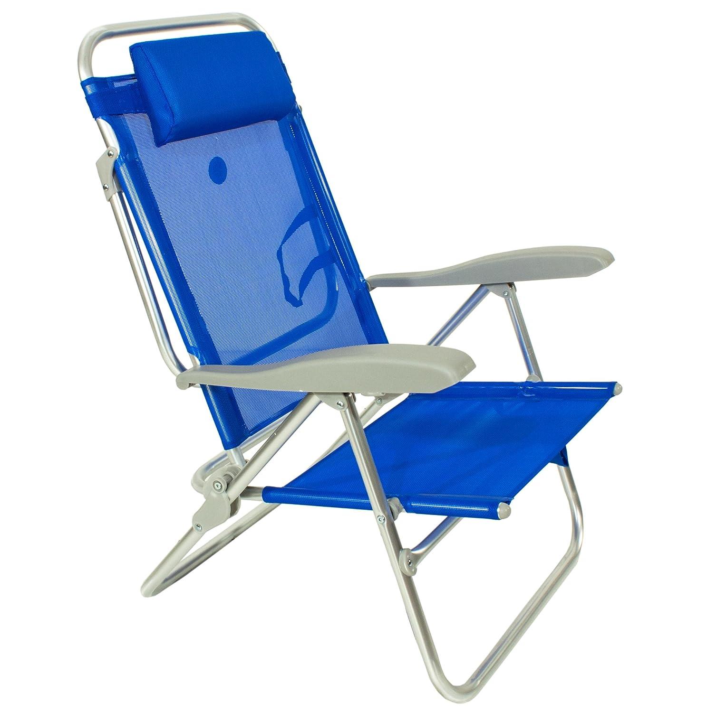 Joy Summer Spiaggina Alluminio Con posizioni Regolabile Sedia Sdraio da spiaggia