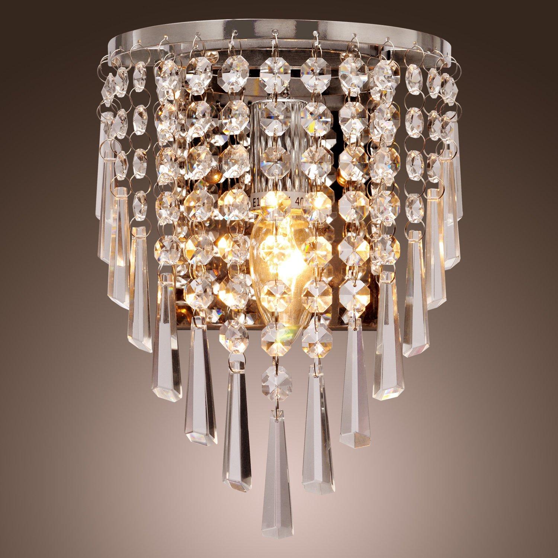 LightInTheBox Moderne Halbrunde Wandleuchte Aus Kristall Leuchten Fr Heim Wohnzimmer Schlafzimmer Amazonde Beleuchtung