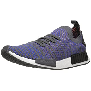 adidas Originals Men's NMD_R1 STLT PK Running Shoe, hi-res Blue/Black/Coral, 10 M US