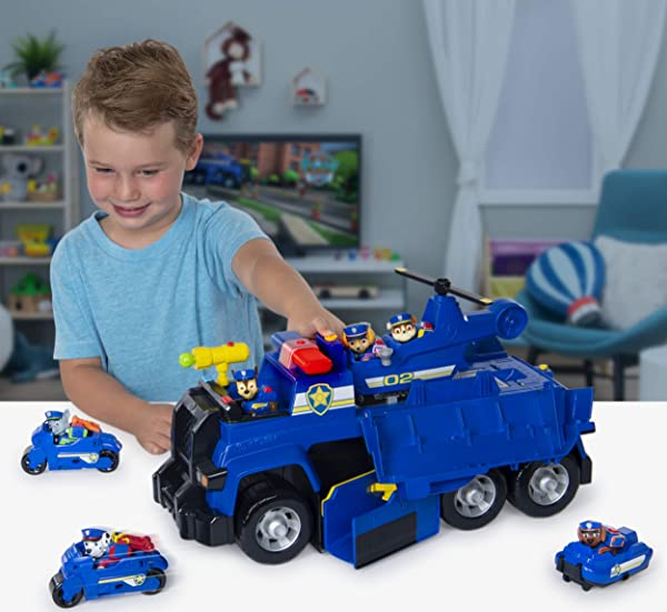 PAW Patrol Chase's 5-in-1 Ultimate Cruiser preschool character vehicle toy for kids