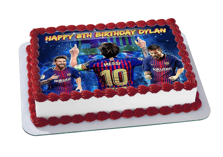 Lionel Messi FC Barcelona Edible Cake Image Topper ...