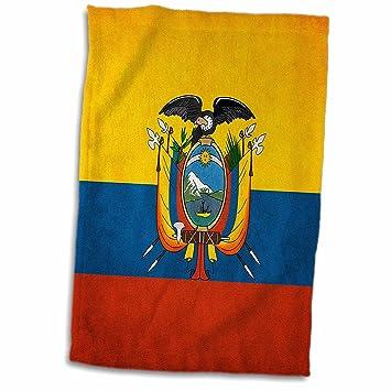 3dRose - Toalla con Bandera de Ecuador, Color Blanco, 38,1 x 55,8 cm: Amazon.es: Hogar