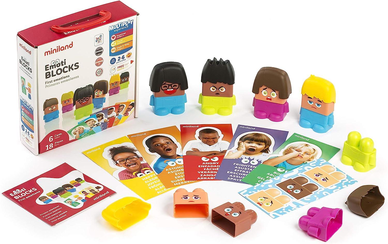 Miniland Emotiblocks Basic Emotions Toy Miniland Educational Corp 32350