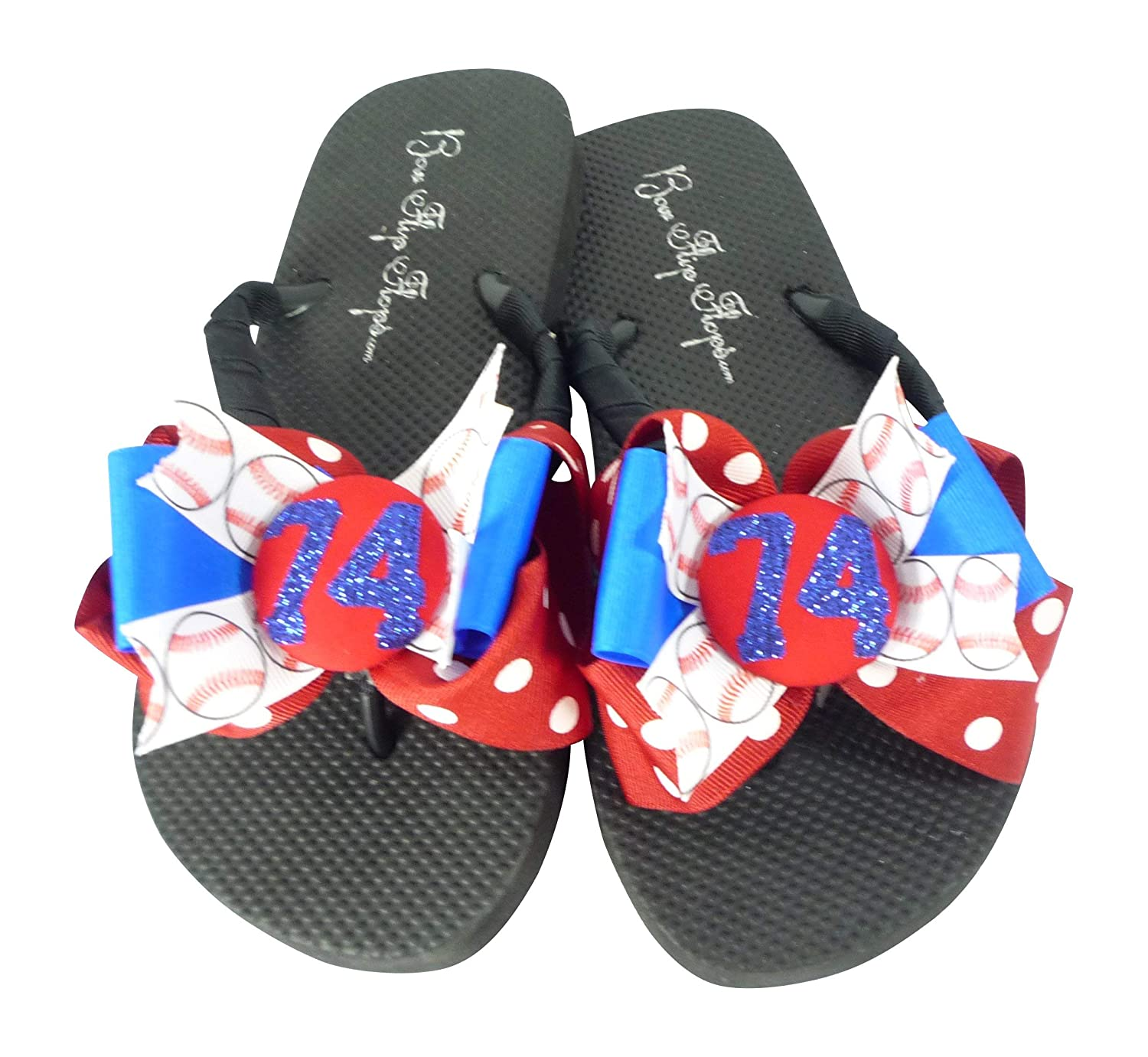 3903929a72d80 Amazon.com: Baseball- Red & Electric Blue - or Choose your Sport Bow ...