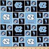 Collegiate Cotton Broadcloth Univeristy of North Carolina Tar Heels Fabric By The Yard
