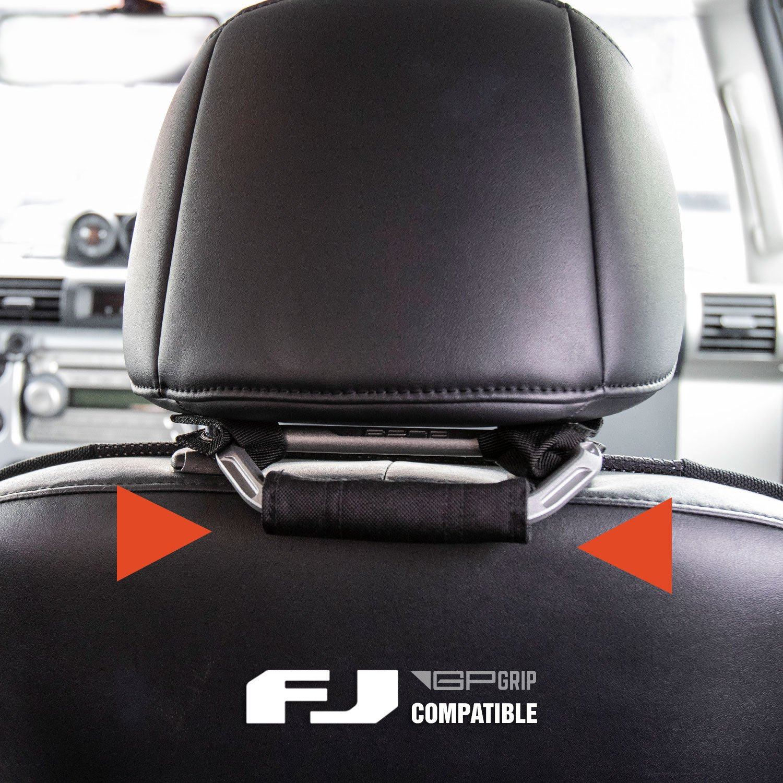Metallic Aluminum GPCA Headrest Grab Handles PRO for Jeep Wrangler JK//JKU 4DR// 2DR Backseat Passengers