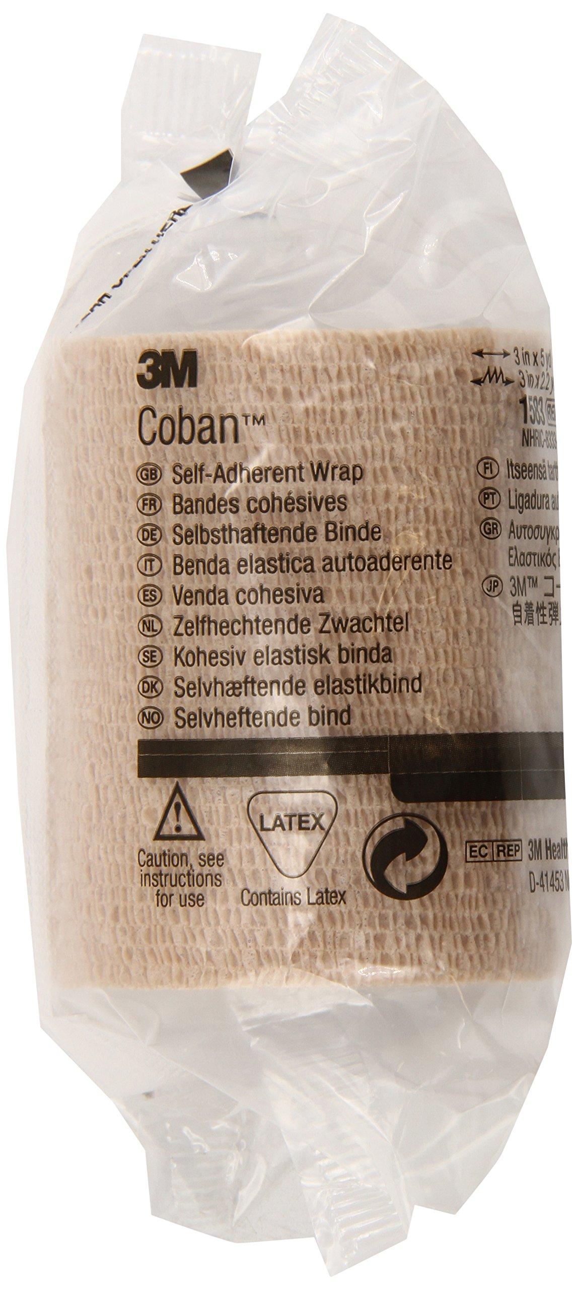3M Coban Self-Adherent Wrap 1583 (Pack of 24)