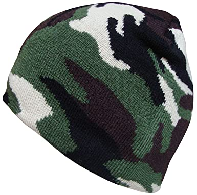 149b4027ebf Image Unavailable. Image not available for. Colour  Mens or Boys Camouflage  Beanie Hat ...