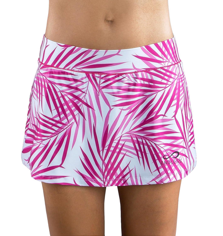 ENDLESS Infinity Palms Falda de Tenis, Mujer, Rosa, L: Amazon.es ...