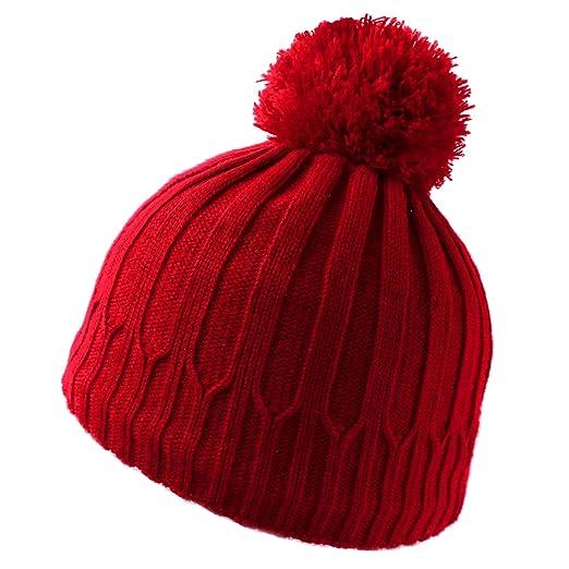 10dc5fed43715b Winter Pompom Beanie for Boys Girls - Warm,Thick &Soft Fleece Lined Ski Cap  Boys