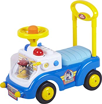 ANDADOR COCHE RIDE ON CAR FIREMAN AZUL CHIPOLINO: Amazon.es ...