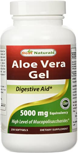 Best Naturals Aloe Vera Gel 5000 mg 250 Softgel