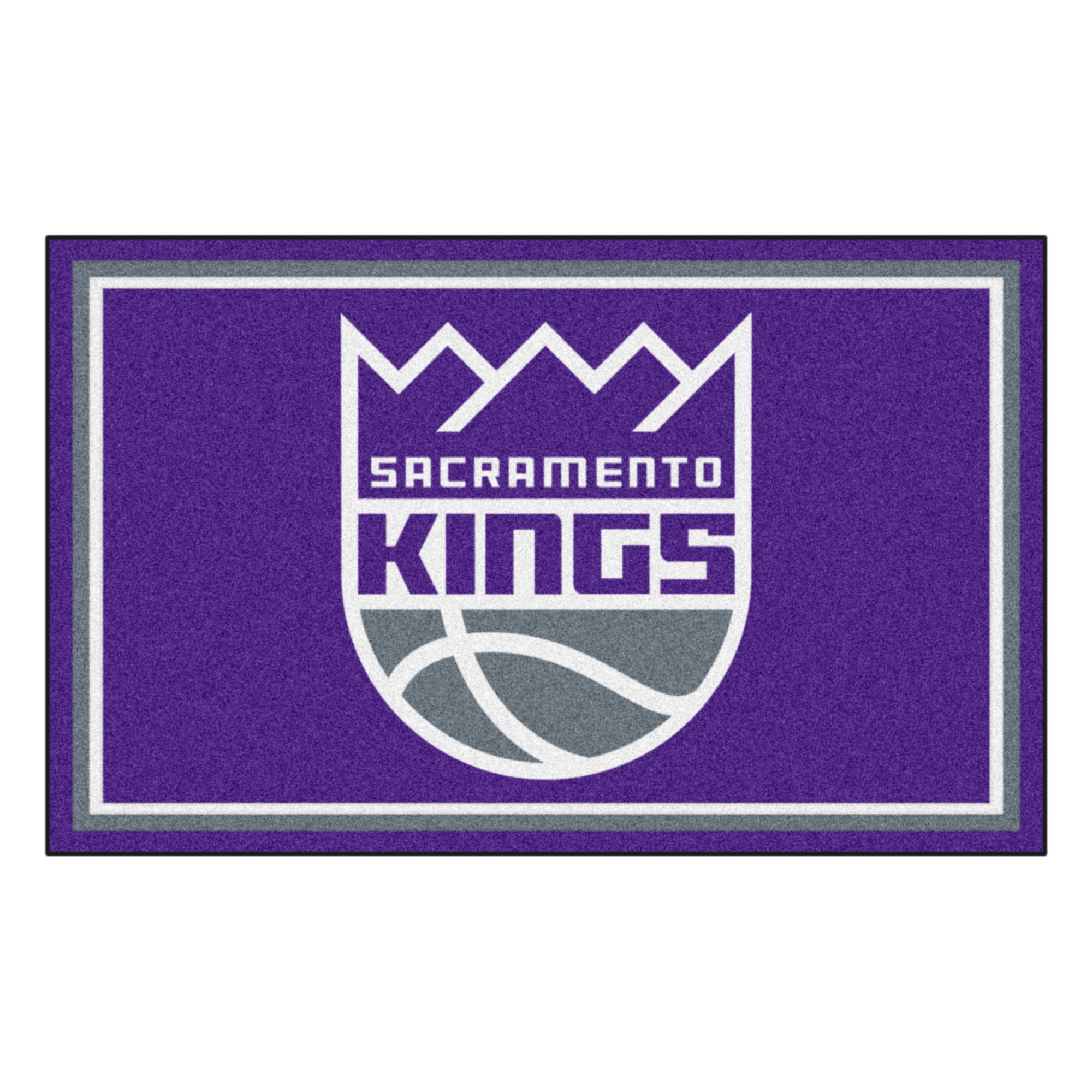 FANMATS 20443 NBA - Sacramento Kings 4'X6' Rug, Team Color, 44''x71'' by Fanmats