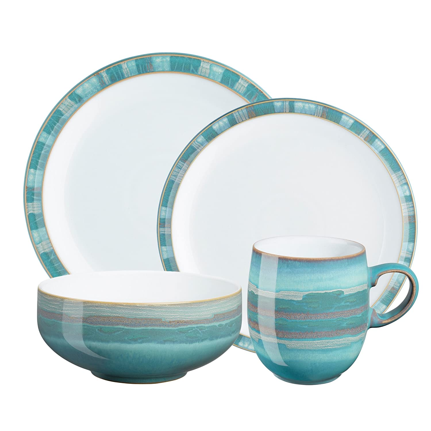 sc 1 st  Amazon.com & Amazon.com | Denby Azure Coast 16-Piece Dinnerware Set: Dinnerware Sets