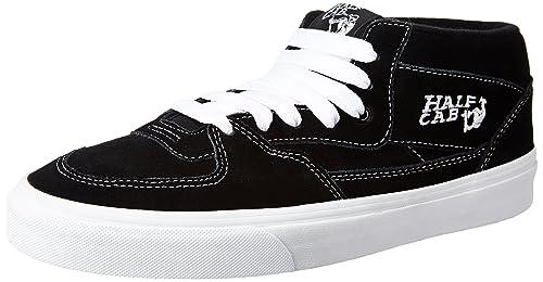 969c22181d Vans Unisex Half Cab Black Leather Sneakers - 4 UK India (36.5 EU ...