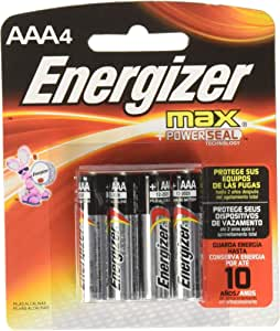 Energizer AAA Batteries (4 Count), Triple A Max Alkaline Battery
