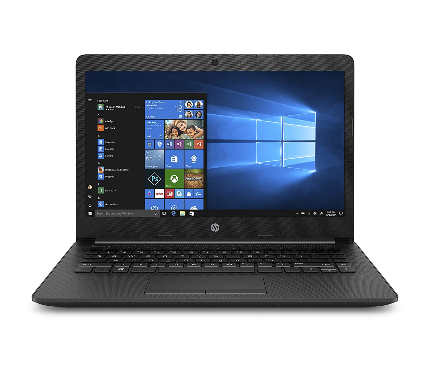 HP 14-Inch Laptop with Microsoft Office Home and Student 2019 Download | 1 person, Compatible on Windows 10 and Apple macOS