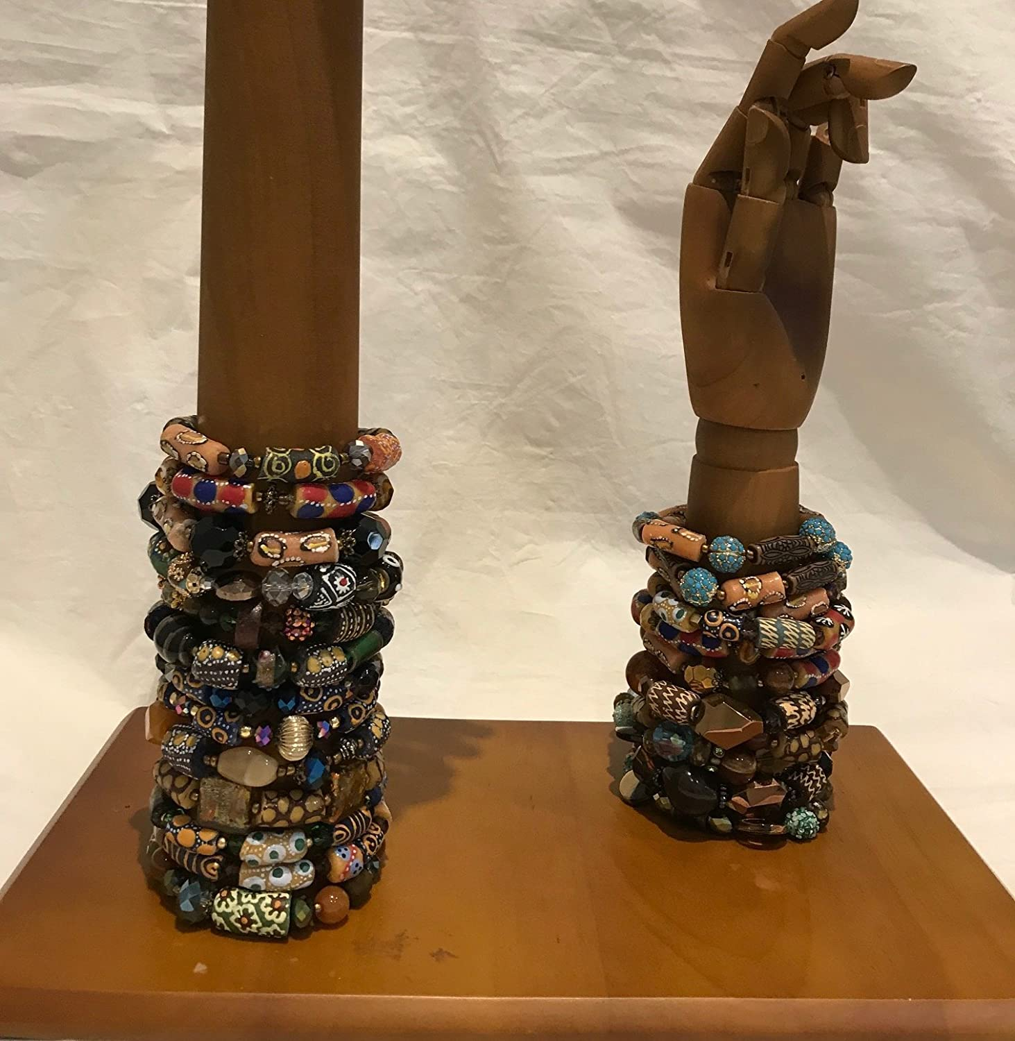 Beaded Glass and Semi-Precious Stones Bracelets