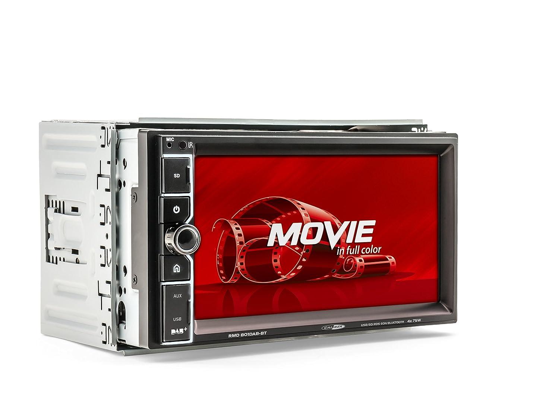 17,78 cm 7 Zoll Schwarz Touchpanel Caliber RMD801DAB-BT 2DIN Autoradio