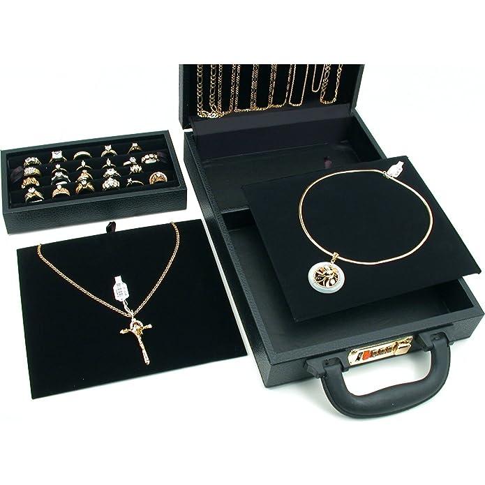 Amazon.com: Anillo Collar Reloj joyas Travel Case Caja de ...
