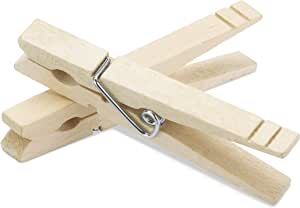 Whitmor Wood Natural Clothespins, S/100