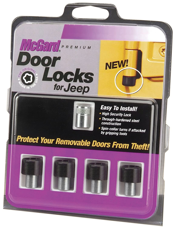McGard 76060 Black M6 x 1.0 Thread Size 4-Door Lock Set for Jeep Wrangler, Set of 4