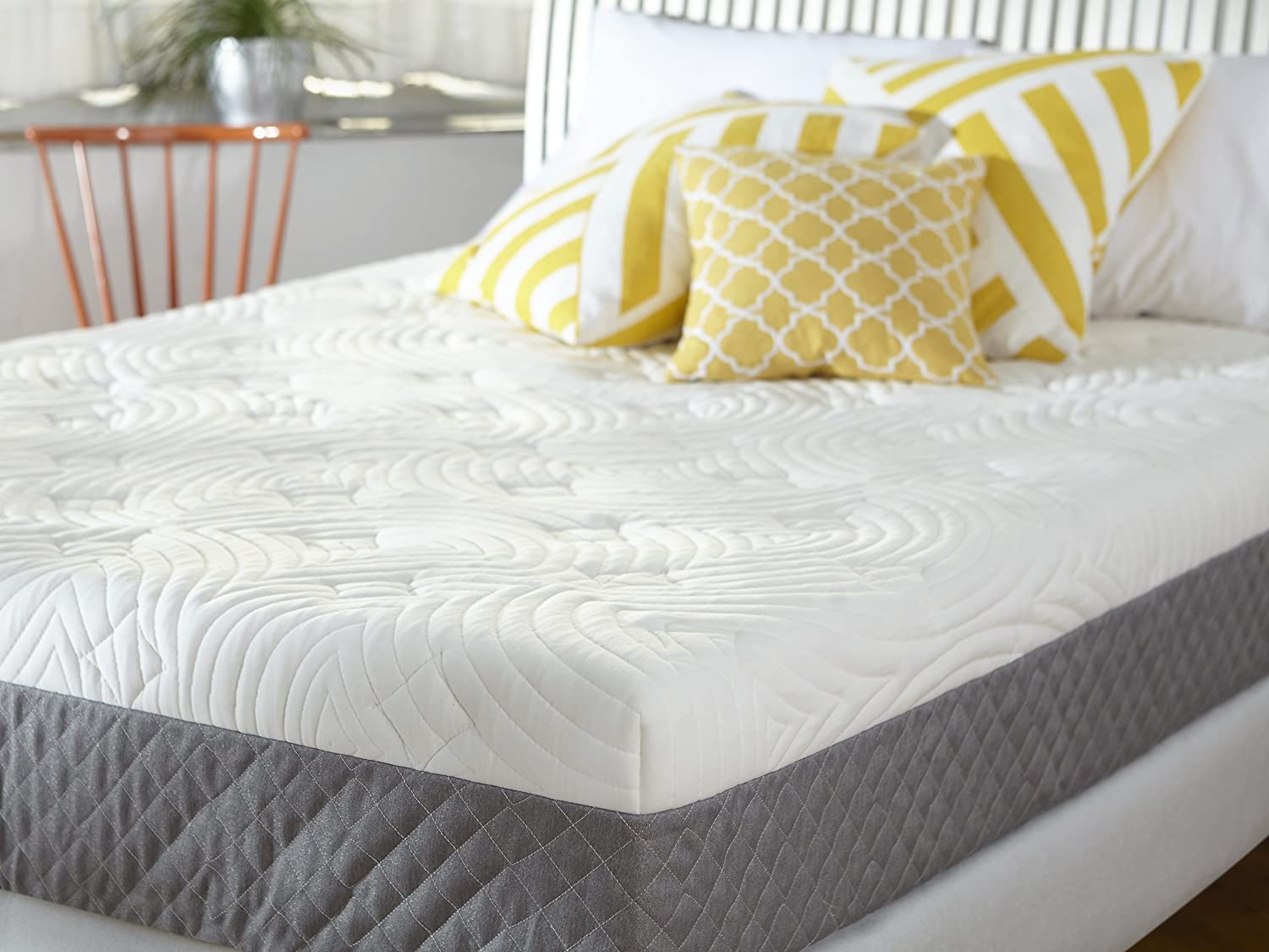 ... and a thick foam base which provides support to your body weight. The Sleep  Innovations 10-inch Mattress has a soft cushioned poly-cotton blend cover.