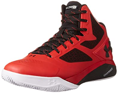 watch ecb9f d0ed6 Under Armour Mens ClutchFit Drive 2 Basketball Sneakers New, Black Red (9.5)