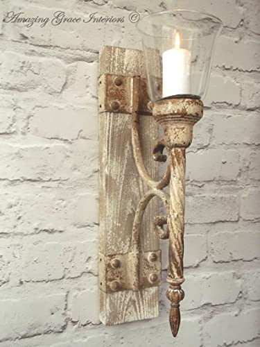 French shabby chic wall sconce candle holder antique vintage style french shabby chic wall sconce candle holder antique vintage style wall light aloadofball Choice Image