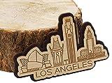 Printtoo Souvenir Engraved Wooden Los Angeles