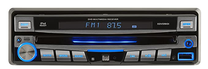 dual xdvd9101 am/fm/dvd receiver with 7-inch motorized lcd, touch