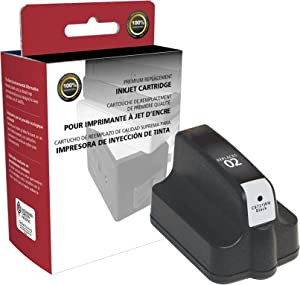 Inksters of America Remanufactured Ink Cartridge Replacement for HP 02 Black HY, C8721WN (#02)