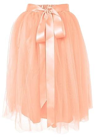 5fa4039c301f Dancina Girls Knee Length Tutu A line Layered Tulle Skirt 2-7 Years Ballet  Pink