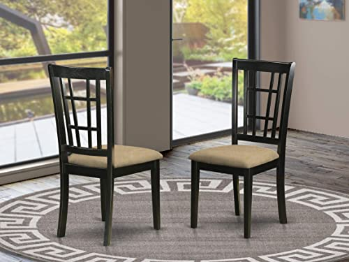East West Furniture Nicoli padded Parson Chair