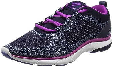 Vionic Womens Flex Sierra Lace up Sneaker Navy Size 65 Wide