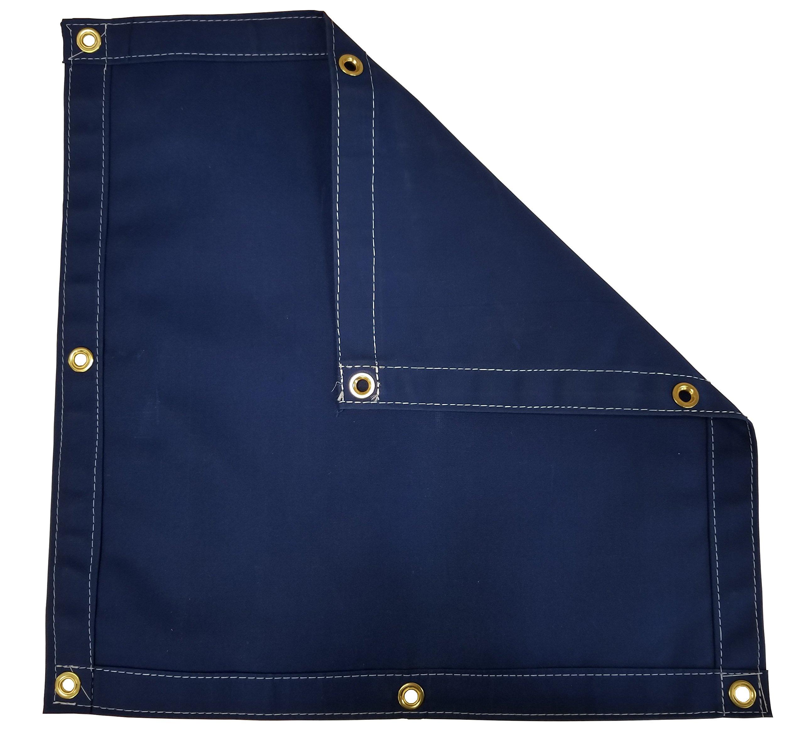 Blue Workhorse Polyester Canvas Tarp 5 Ft. x 7 Ft. - 14.5 Oz.