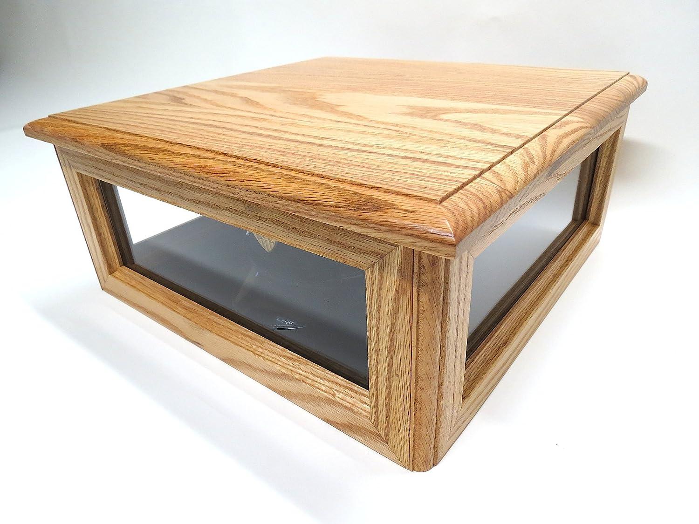 帽子カバーボックスMilitary木製(ソリッドOakウッド) B00ITEMZE8