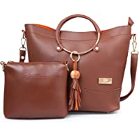 Shining Star Women's Handbag and Shoulder Bag with Sling Bag Combo ST-001