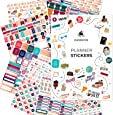 Clever Fox Planner Stickers – Monthly, Weekly & Daily Planner Stickers 14 Sheets Set of 1360+ Unique Stickers by Clever Fox (Value Pack)