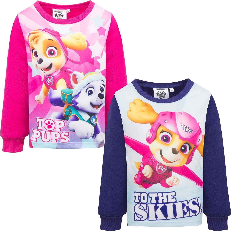 Paw Patrol M/ädchen Pullover Kinder Langarm Sweatshirt