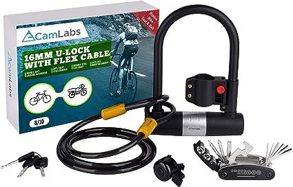 Heavy Duty Bike Lock Anti-thief Bicycle Cycling Steel U-lock Security 3 Keys CLO
