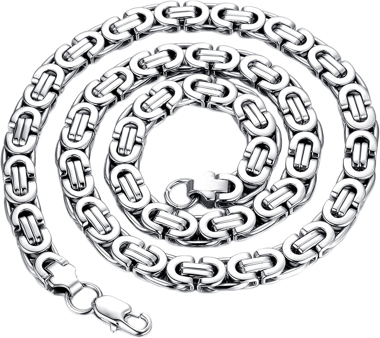 Aokarry Chain Necklace Stainless Steel Chain Necklace for Men Women Silver//Silver Gold 22 Inches